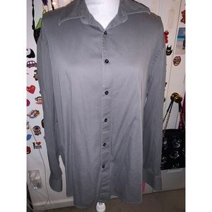 Men's Gray Axist Collar Long Sleeve